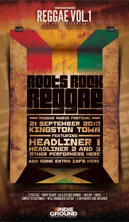 - Reggae Poster & Flyer Photoshop Template